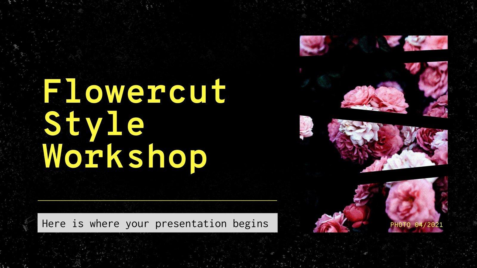Blumen Schneiden Workshop Präsentationsvorlage