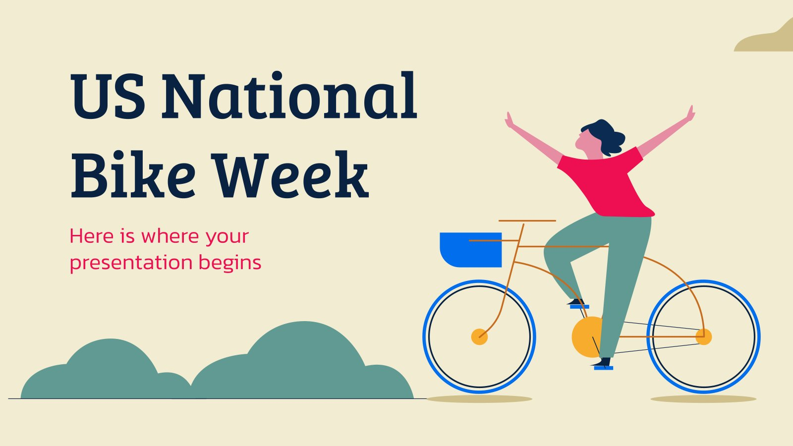 Modelo de apresentação Semana Nacional da Bicicleta dos EUA
