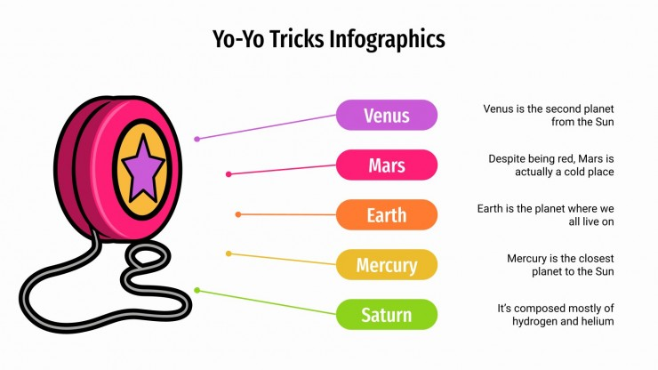 Yo-Yo Tricks Infographics presentation template