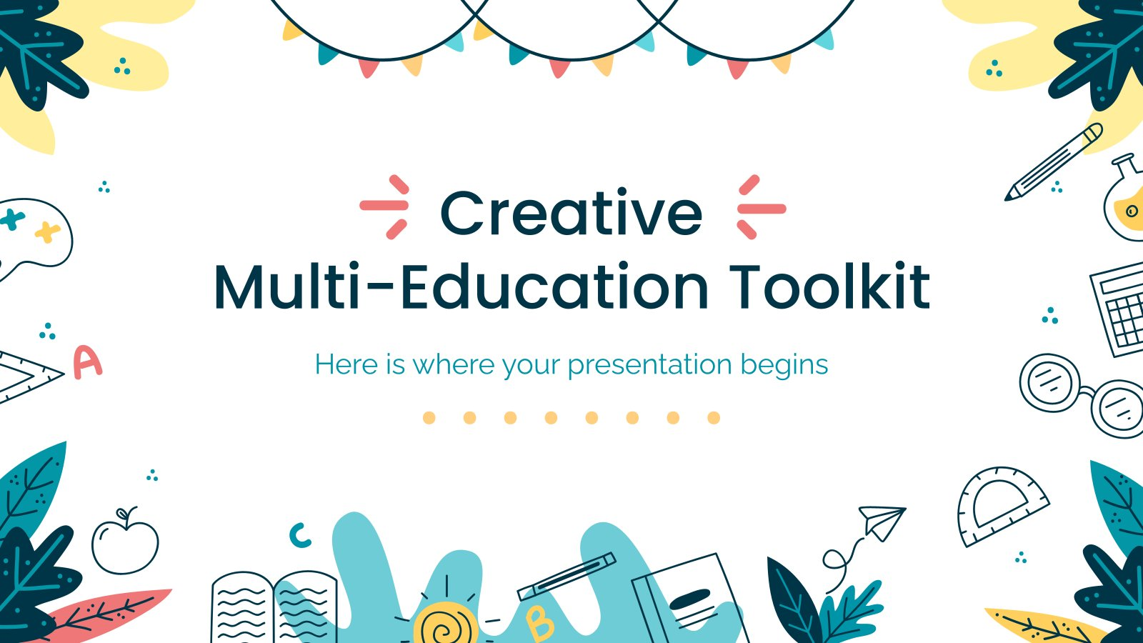 Creative Multi-Education Toolkit presentation template