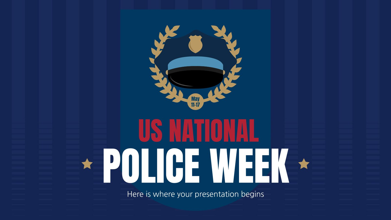 US National Police Week presentation template
