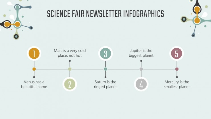 Science Fair Newsletter Infographics presentation template