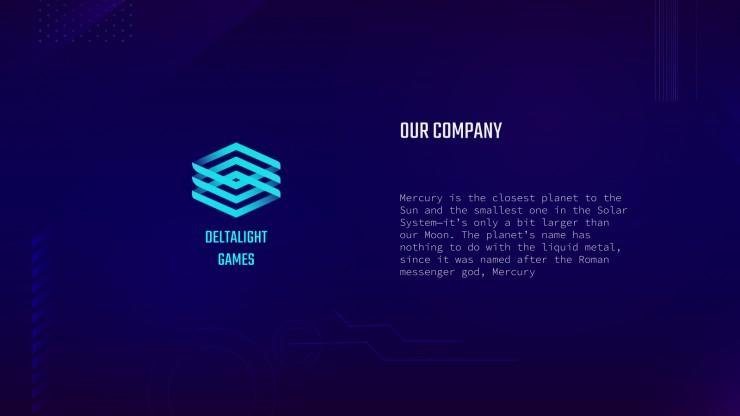 Plantilla de presentación Pitch deck para videojuegos
