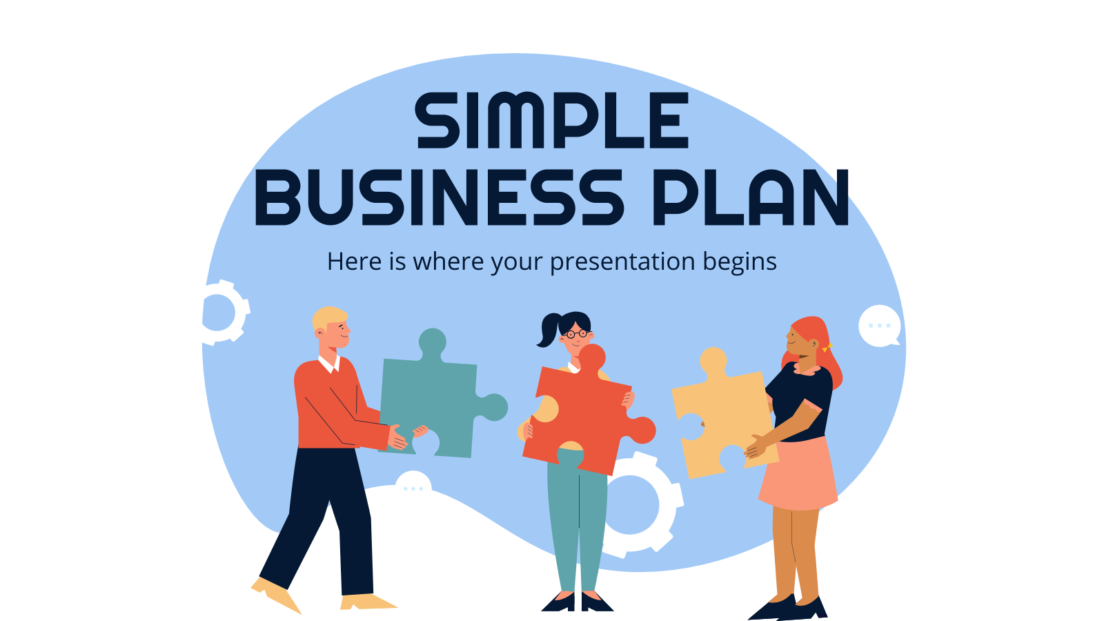 Simple Business Plan presentation template
