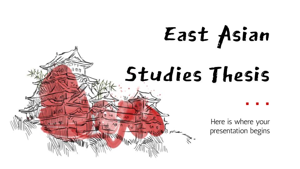 Thèse d'études sur l'Asie de l'Est : Modèles de présentation