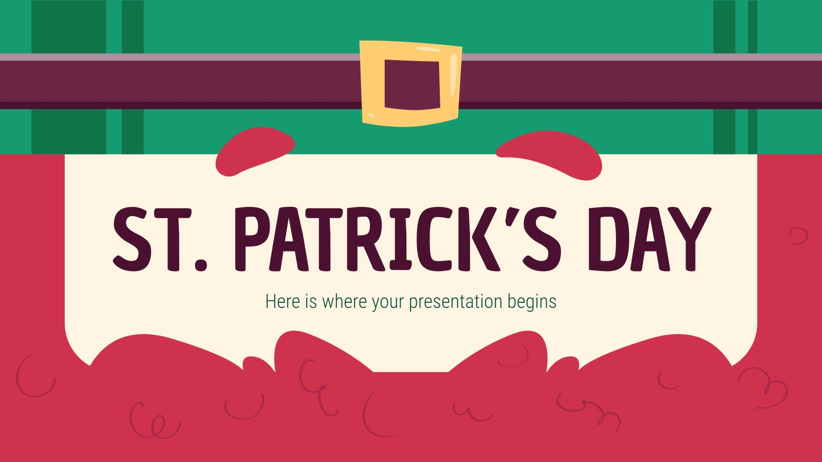 Saint Patrick's Day presentation template