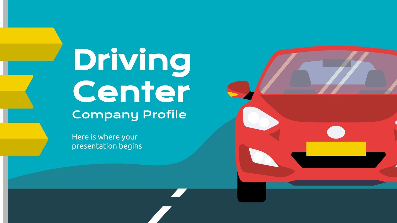 Driving Center presentation template