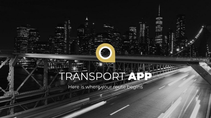Pitch deck d'application de transport : Modèles de présentation