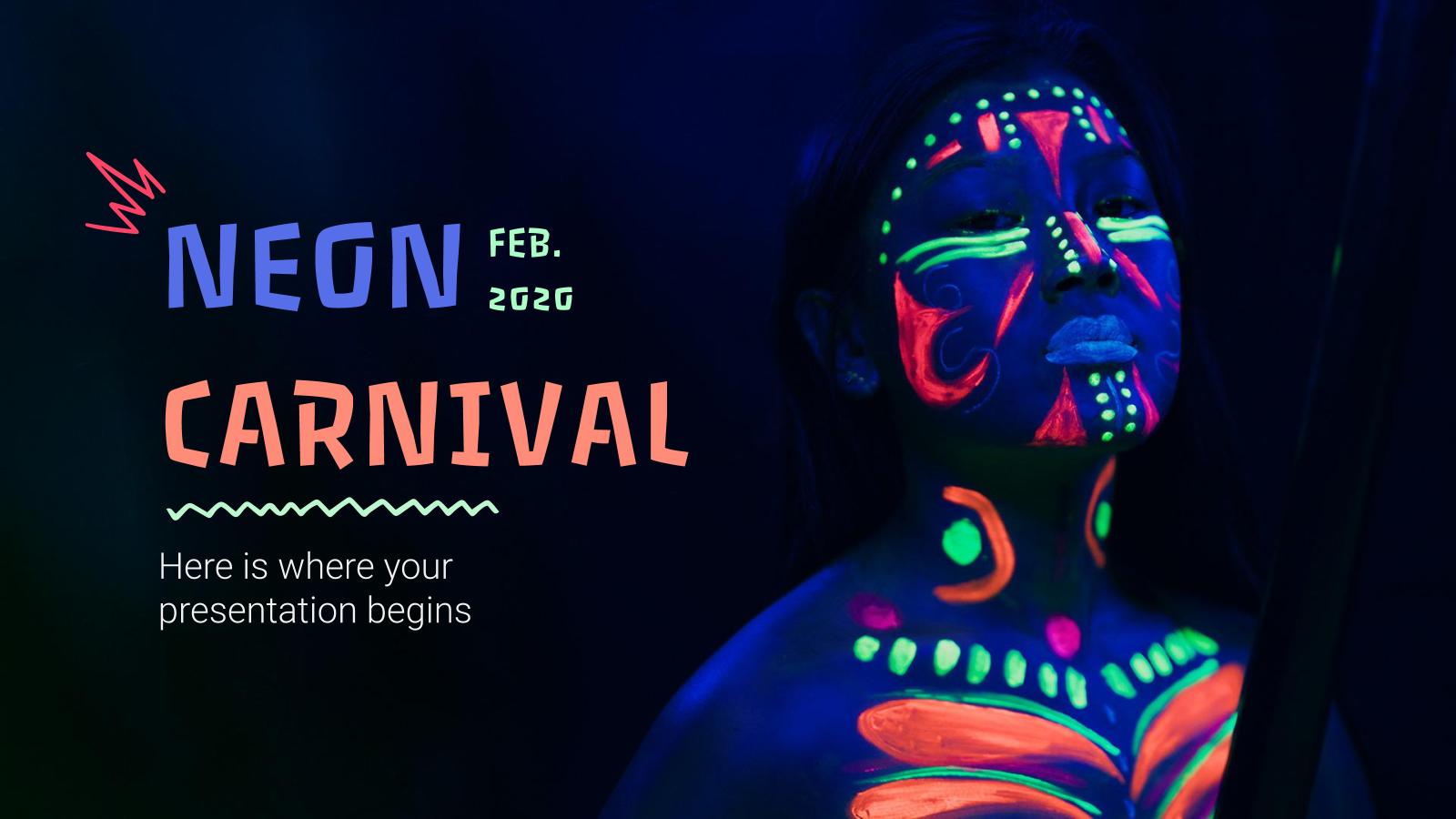 Neon Carnival presentation template