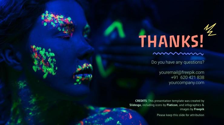 Carnaval néon : Modèles de présentation