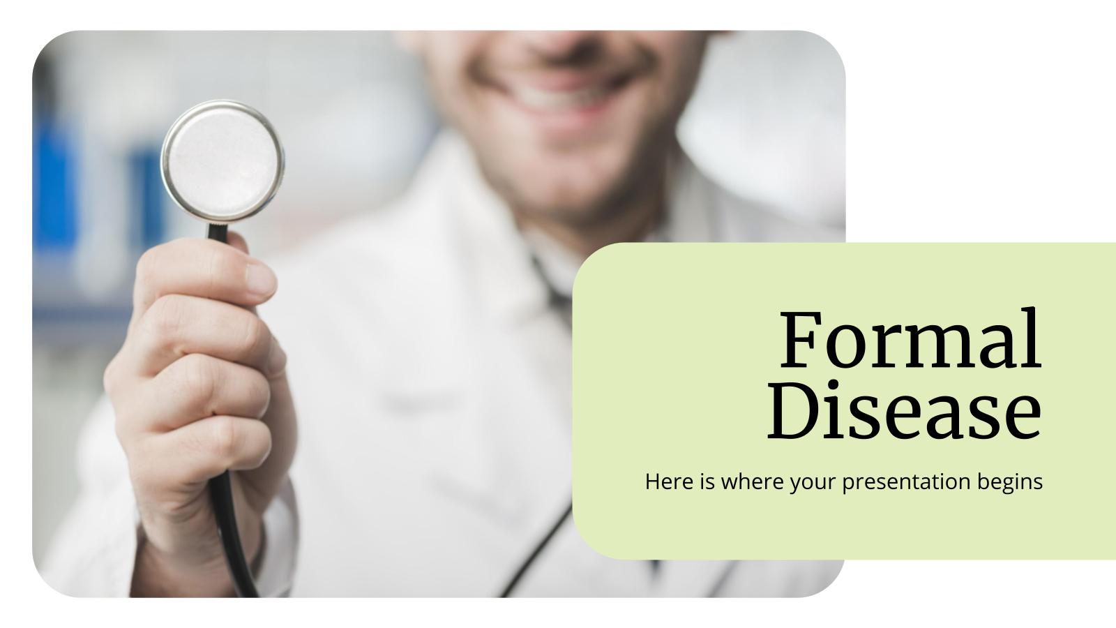 Modelo de apresentação Área médica com toque formal
