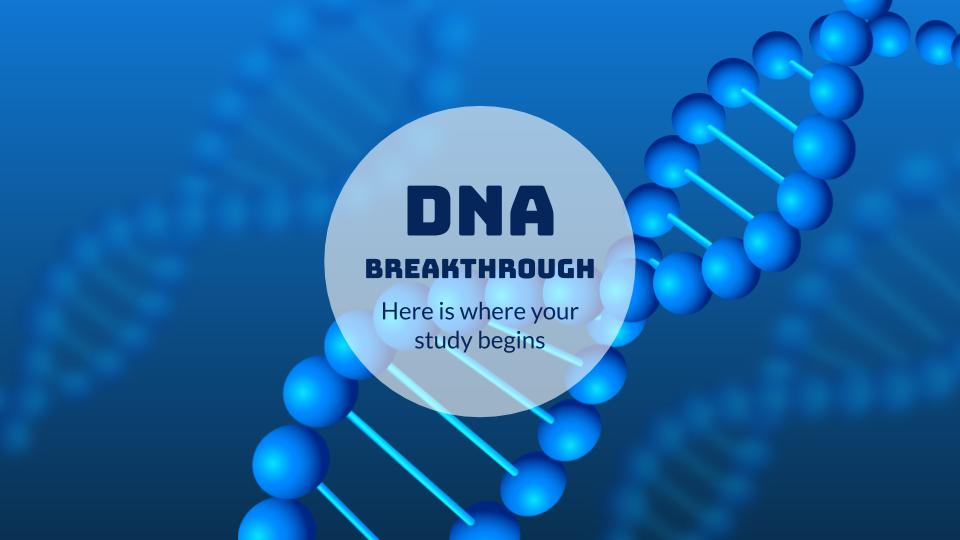 Plantilla de presentación Avances sobre el ADN