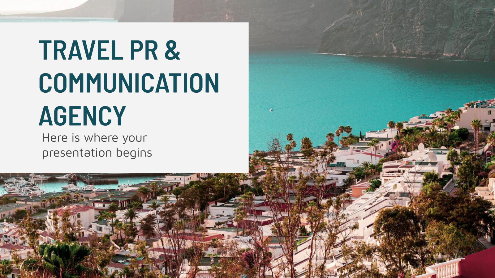 Travel PR & Communication Agency presentation template