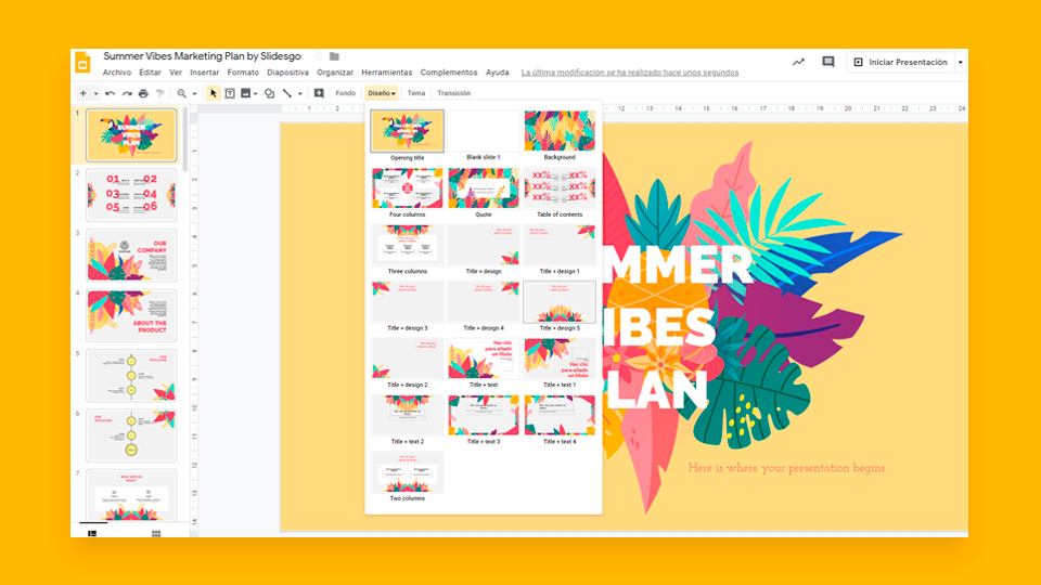 Cómo cambiar los diseños del tema en Google Slides | Tutoriales y Tips para tus presentaciones