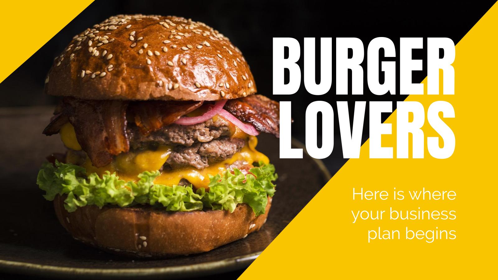 Plantilla de presentación Amantes de las hamburguesas