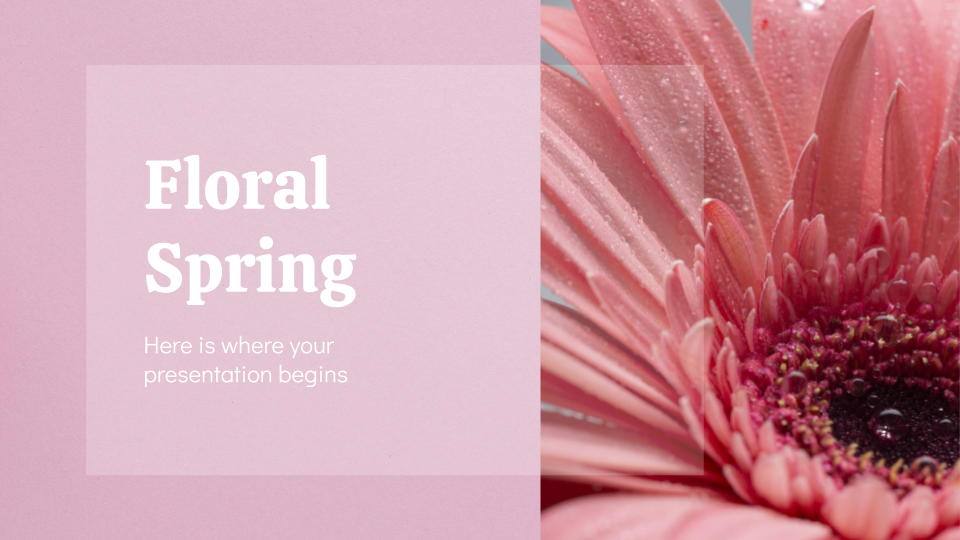 Floral Spring presentation template thumbnails