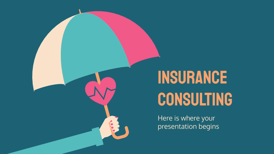 Insurance Consulting presentation template thumbnails