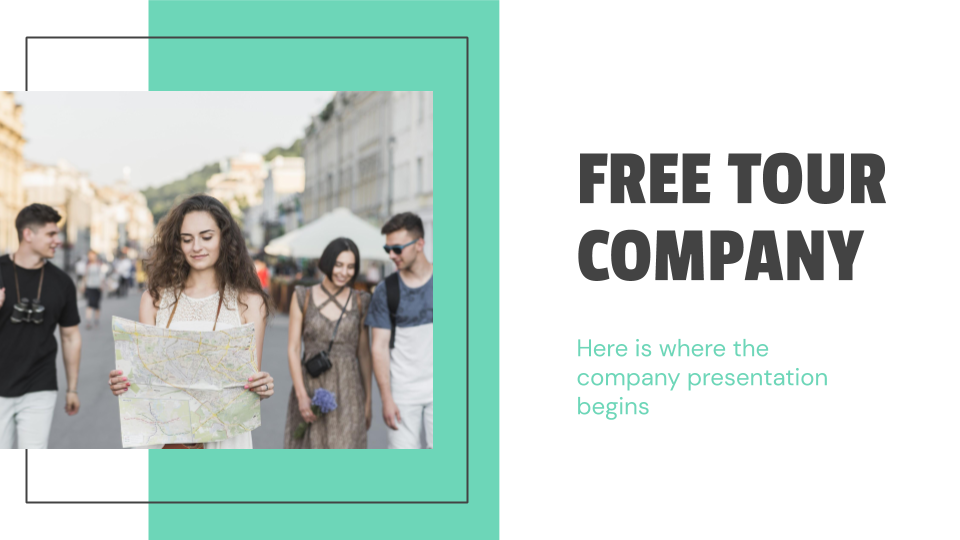 Free Tour Company presentation template