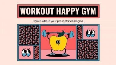 Modelo de apresentação O ginásio feliz
