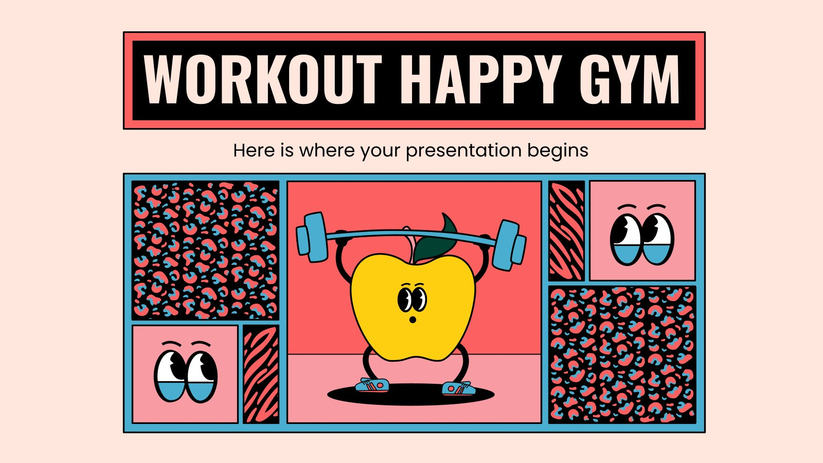 Workout Happy Gym presentation template
