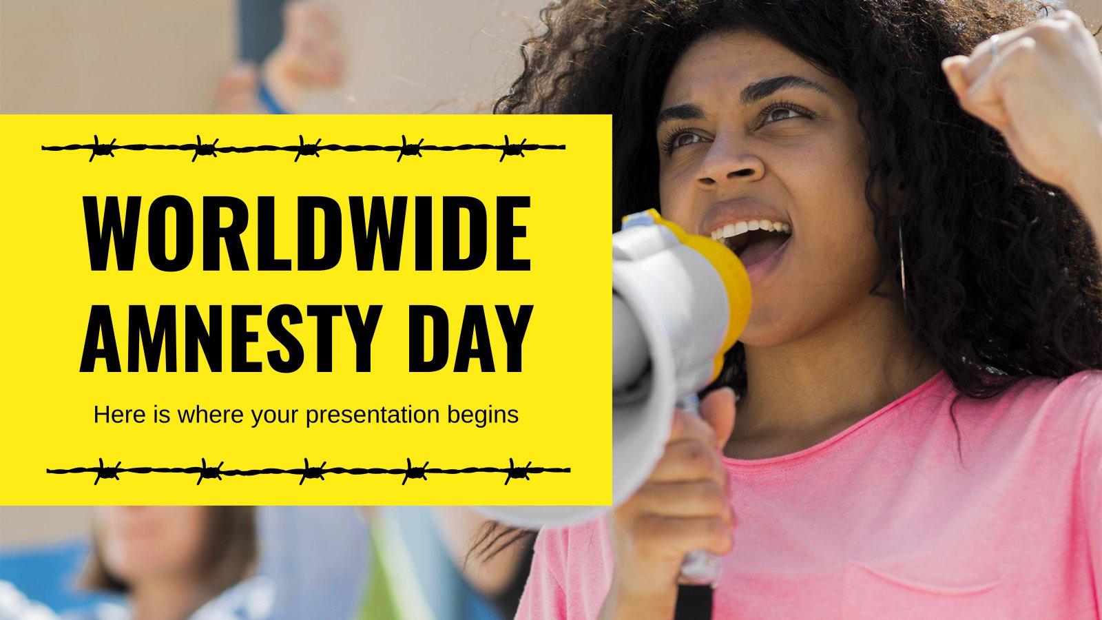 Modelo de apresentação Dia Mundial da Anistia | Google Slides & PPT tema