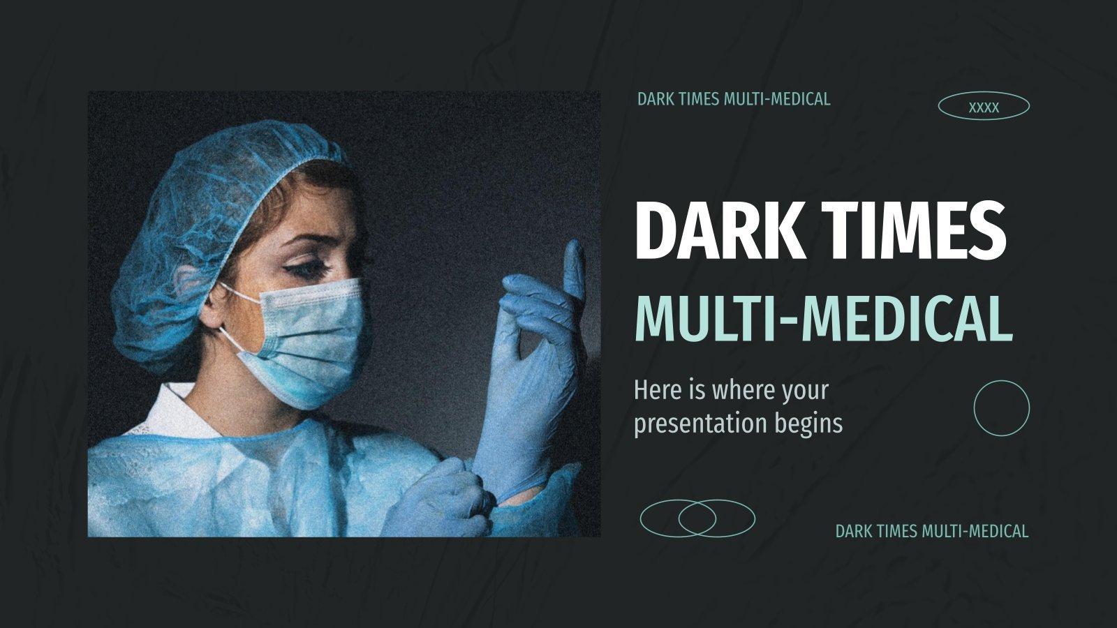 Plantilla de presentación Diapositivas oscuras para medicina
