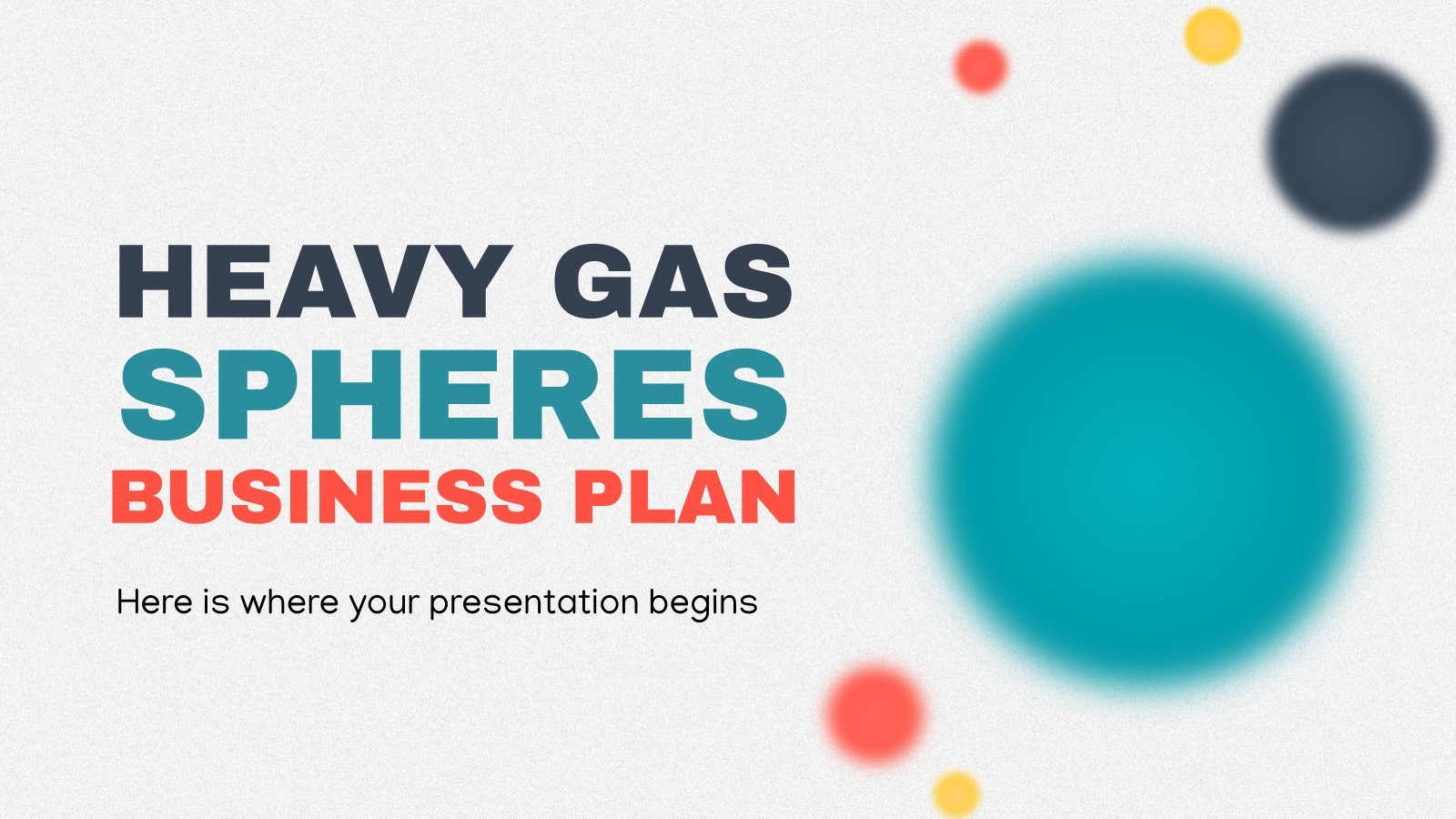 Heavy Gas Spheres Business Plan presentation template