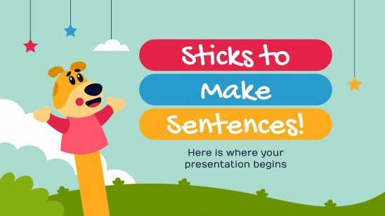 Sticks to Make Sentences presentation template