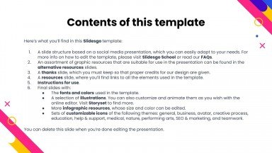Social Media Report presentation template