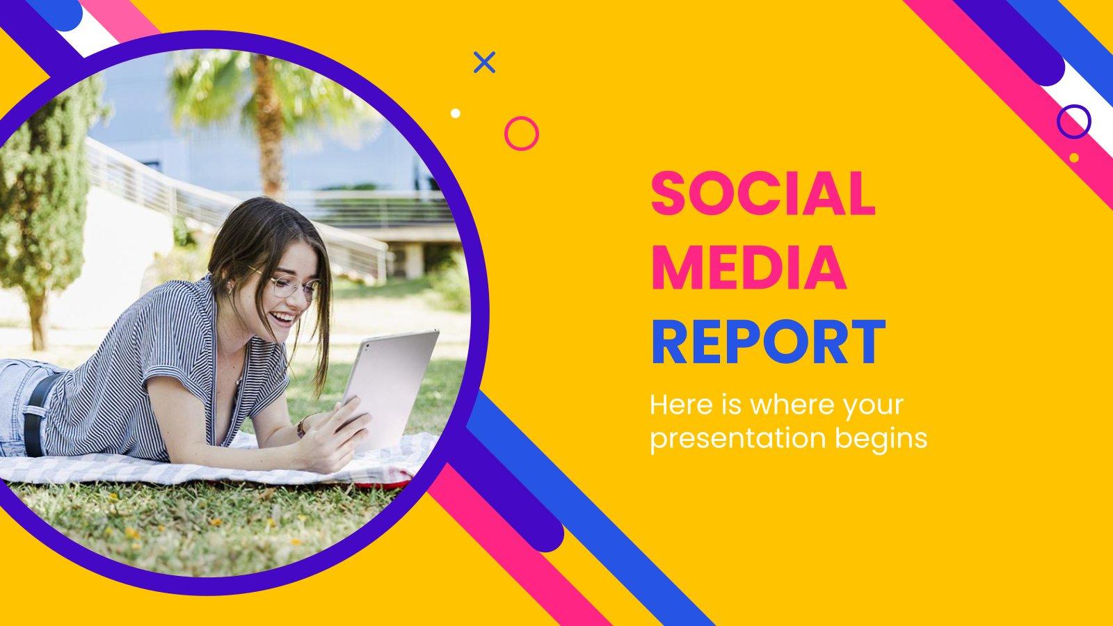Plantilla de presentación Informe de redes sociales