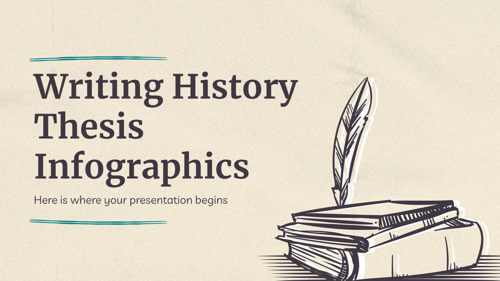Writing History Thesis Infographics presentation template