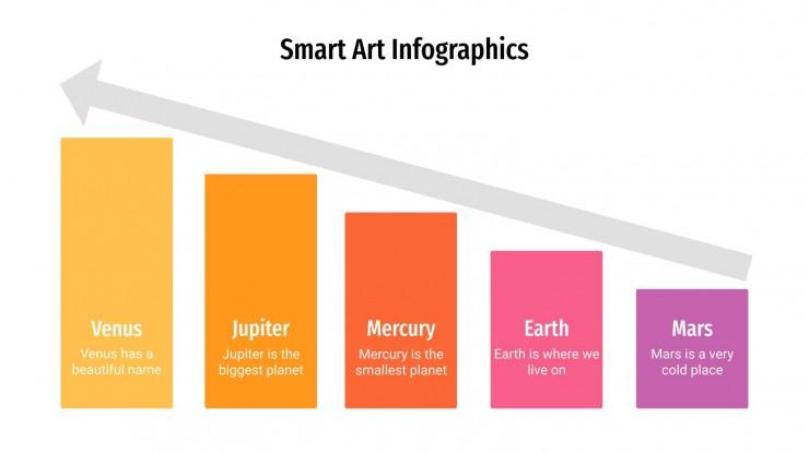 Plantilla de presentación Infografías de SmartArt