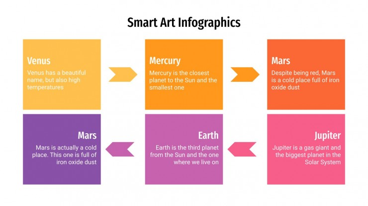Infographies sur SmartArt : Modèles de présentation