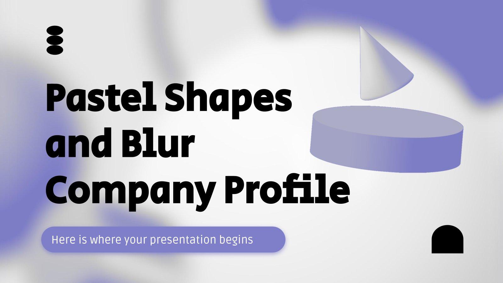 Profil de l'entreprise formes pastel et floues : Modèles de présentation
