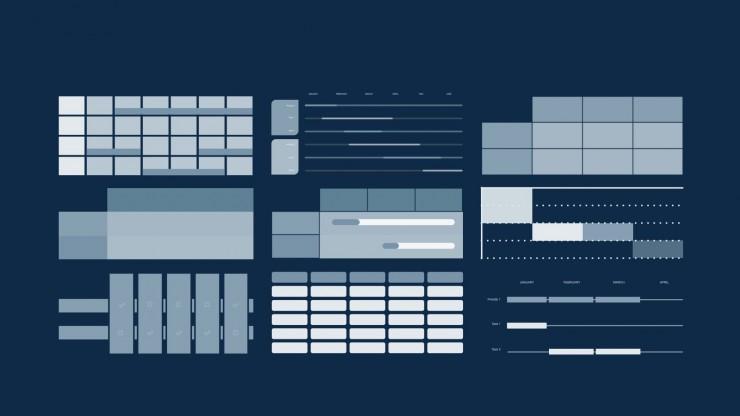 Modelo de apresentação Perfil de negócio com formas pastéis