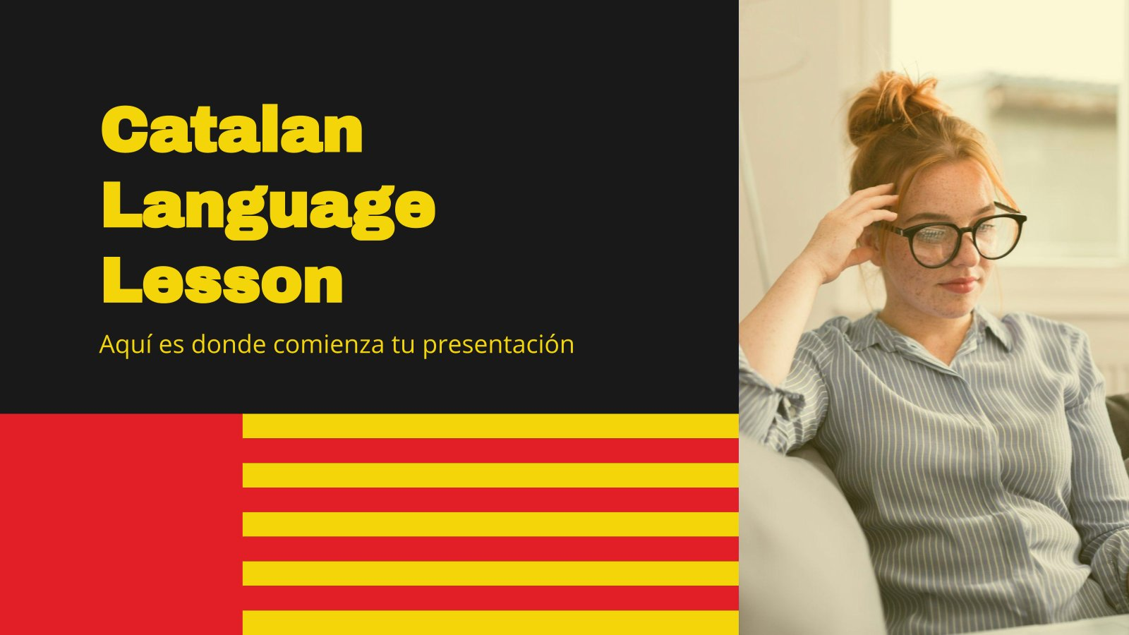 Catalan Language Lesson presentation template