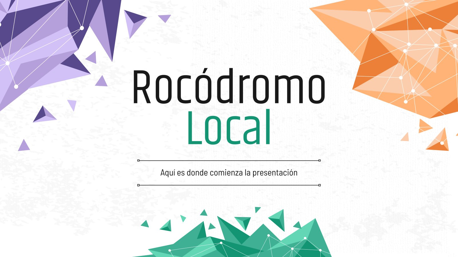 Rocódromo Local presentation template