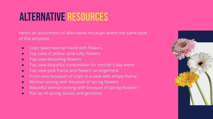 Floral Windows Portfolio presentation template