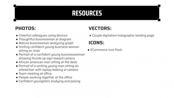 Campagne MK en noir et blanc avec grille : Modèles de présentation