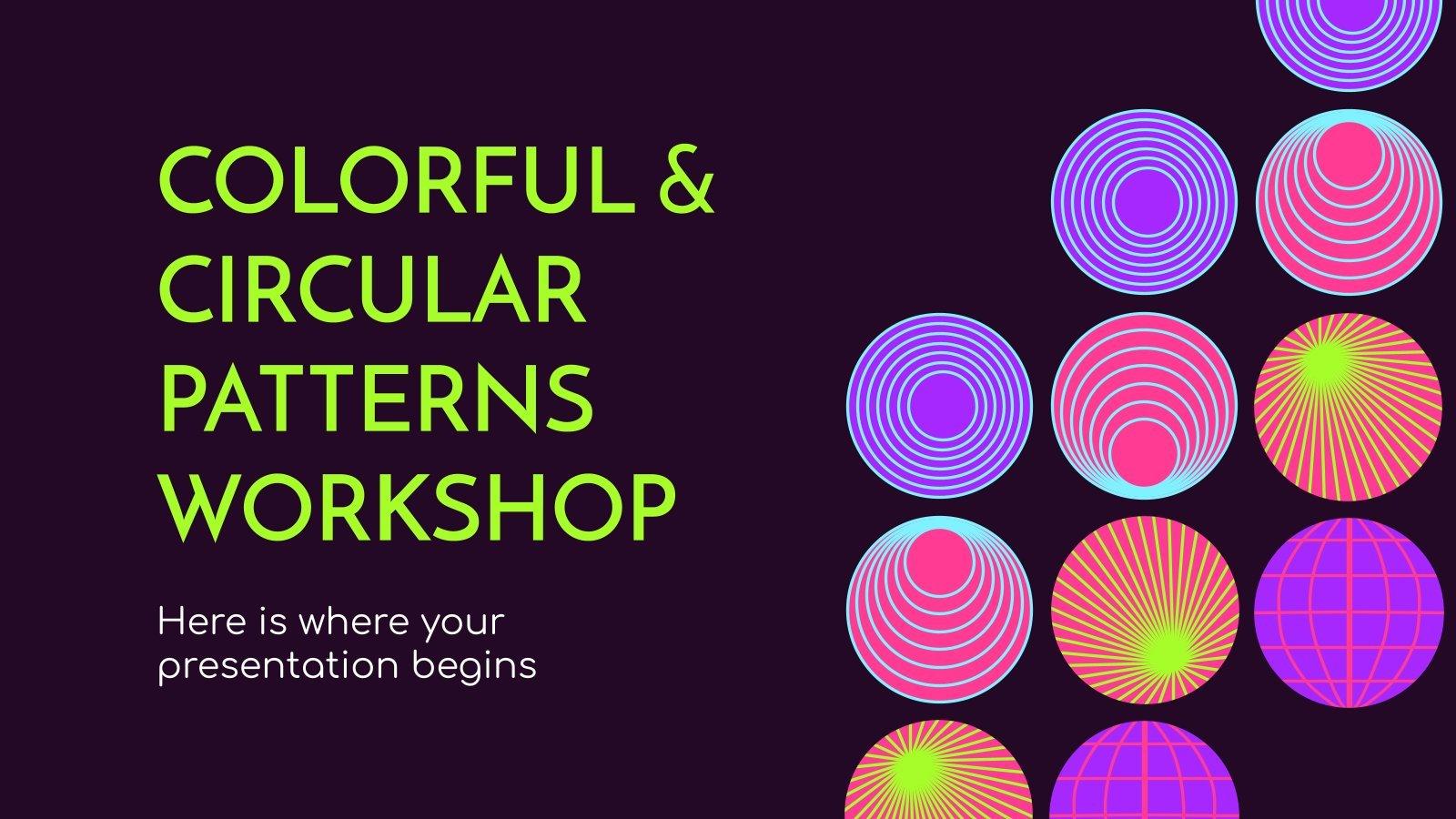 Atelier de motifs colorés et circulaires : Modèles de présentation