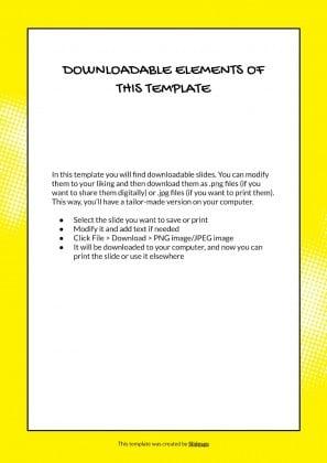 Comic-Illustrator CV Präsentationsvorlage