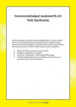Comic Illustrator CV presentation template