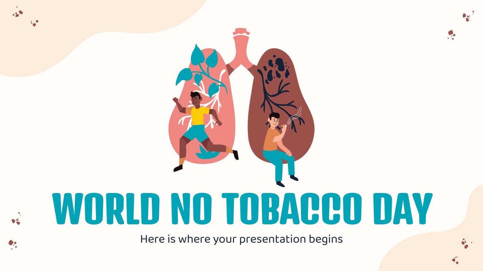 Modelo de apresentação Dia Mundial Sem Tabaco