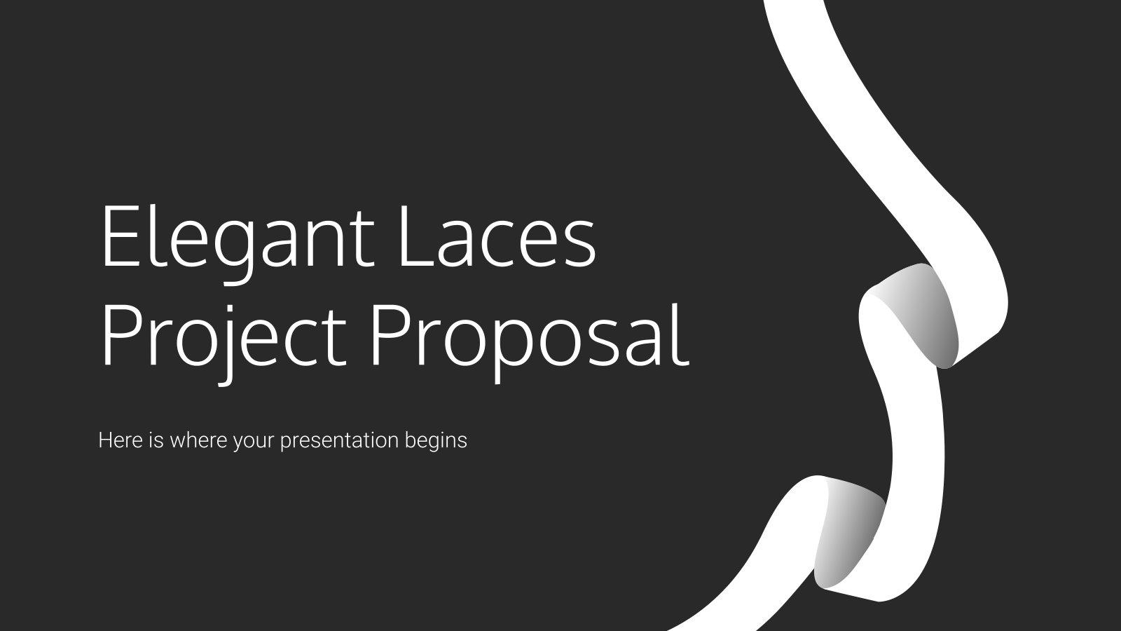 Elegante Bänder Projektvorschlag Präsentationsvorlage