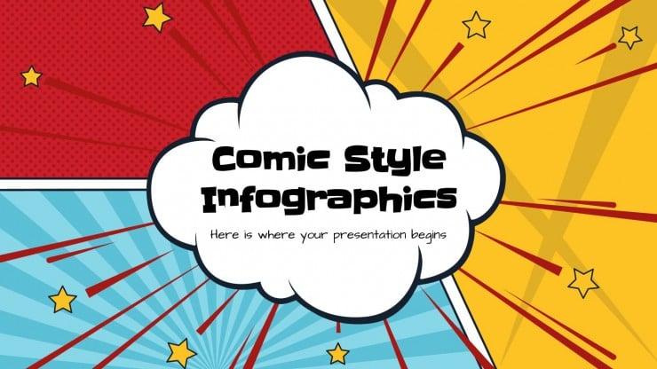 Infográficos estilo de história em quadrinhos