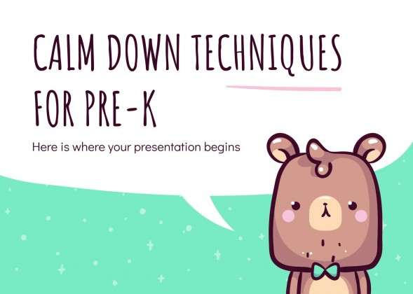 Calm Down Techniques for Pre-K presentation template