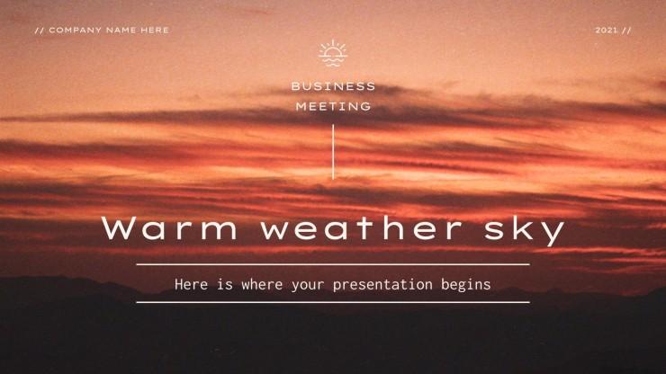 Plantilla de presentación Reunión de negocios soleada