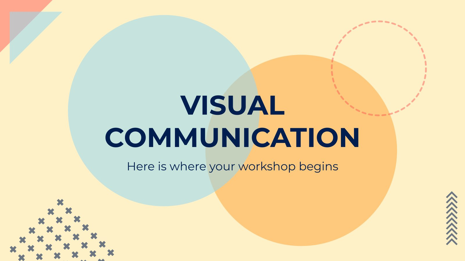Workshop für visuelle Kommunikation Präsentationsvorlage