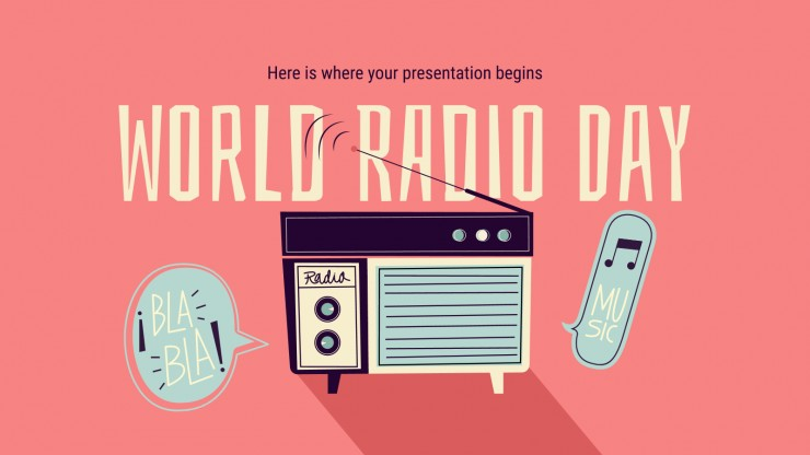 World Radio Day presentation template