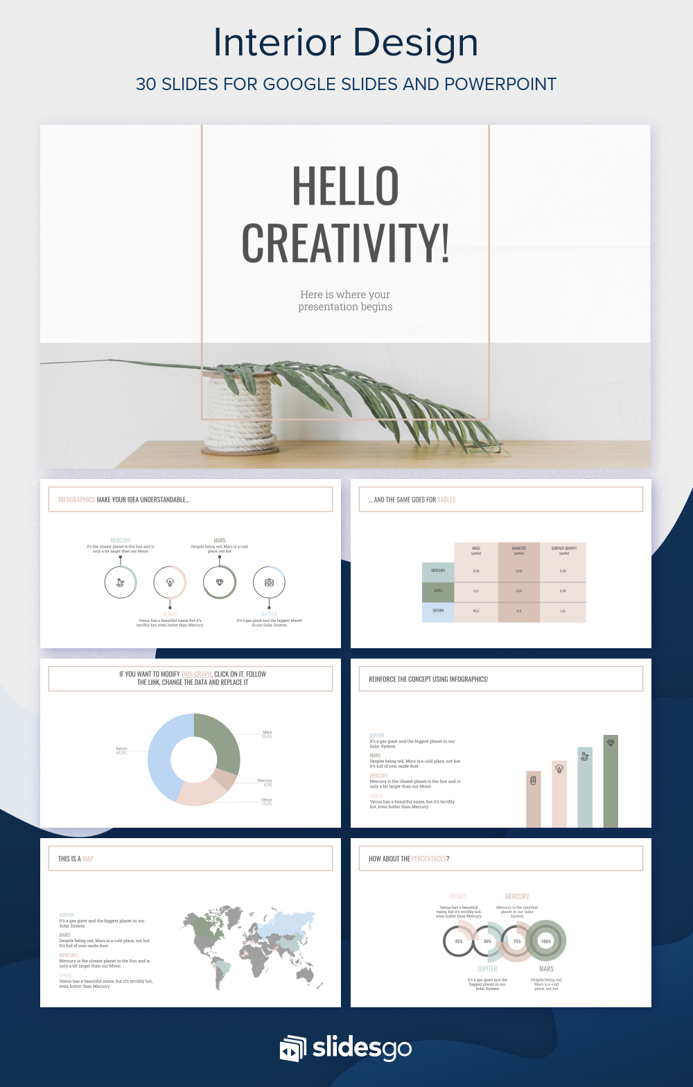 Interior Design Google Slides And Powerpoint Template